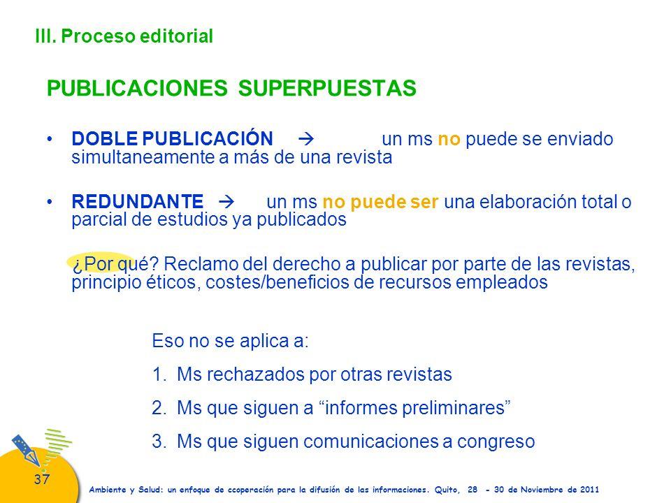 PUBLICACIONES SUPERPUESTAS