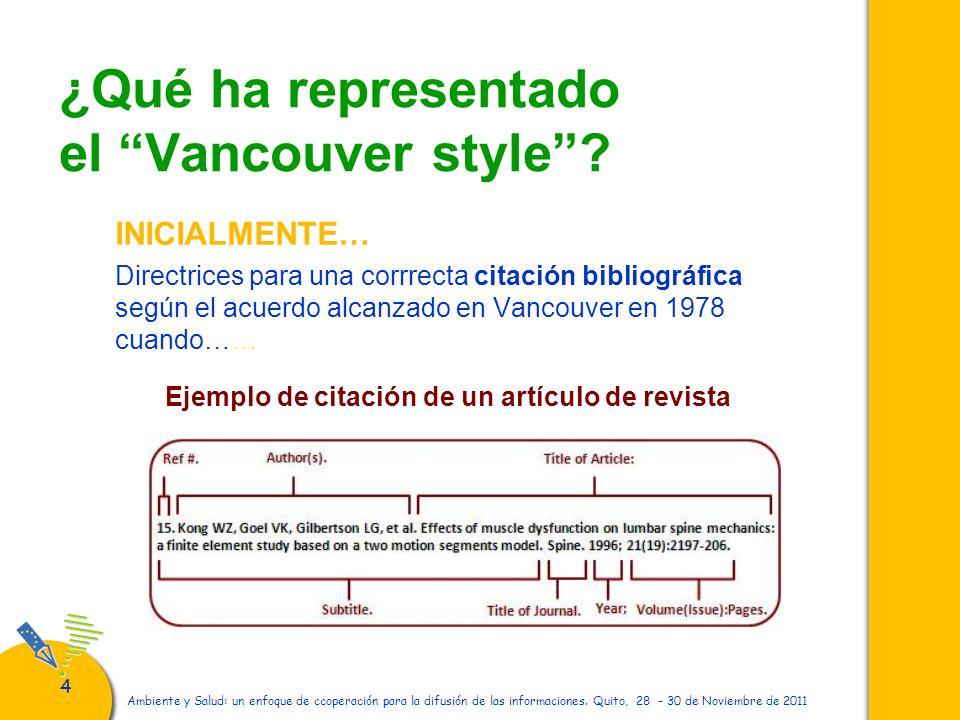 ¿Qué ha representado el Vancouver style