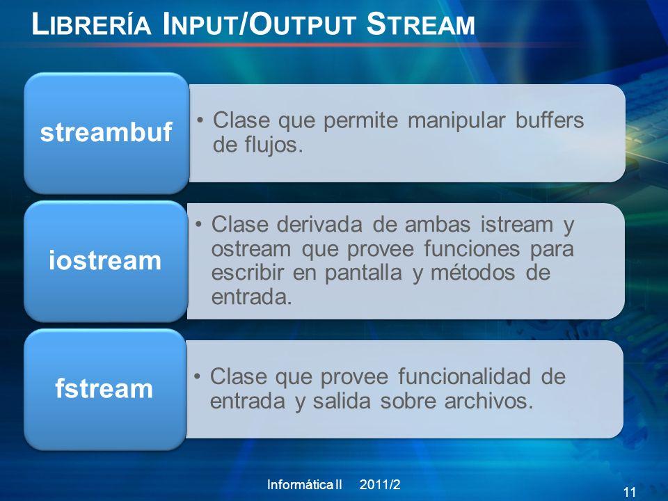 Librería Input/Output Stream