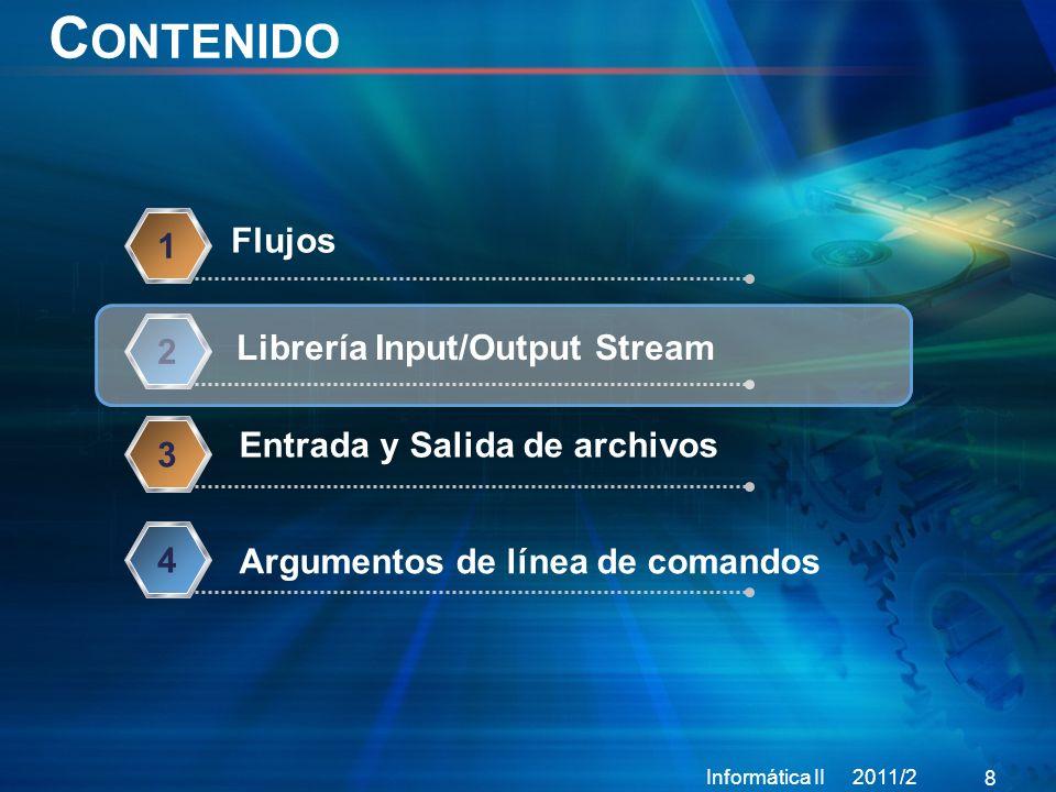 Contenido Flujos 1 Librería Input/Output Stream 2