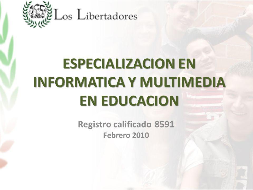 ESPECIALIZACION EN INFORMATICA Y MULTIMEDIA EN EDUCACION