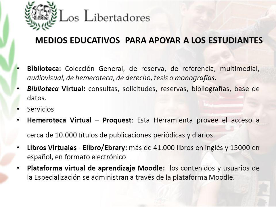 MEDIOS EDUCATIVOS PARA APOYAR A LOS ESTUDIANTES