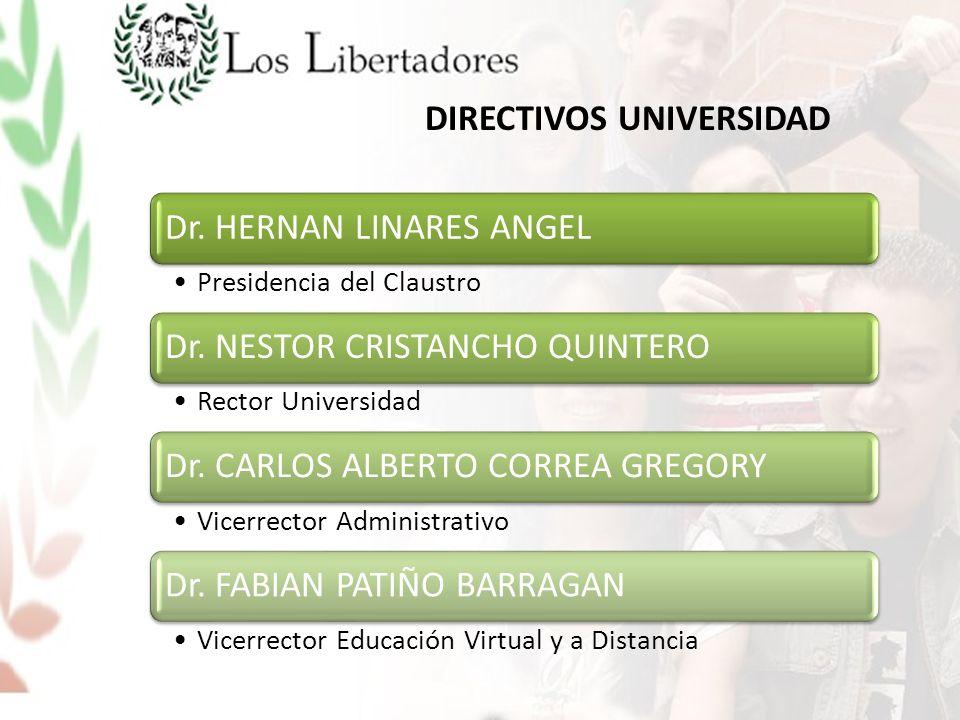 DIRECTIVOS UNIVERSIDAD Dr. HERNAN LINARES ANGEL