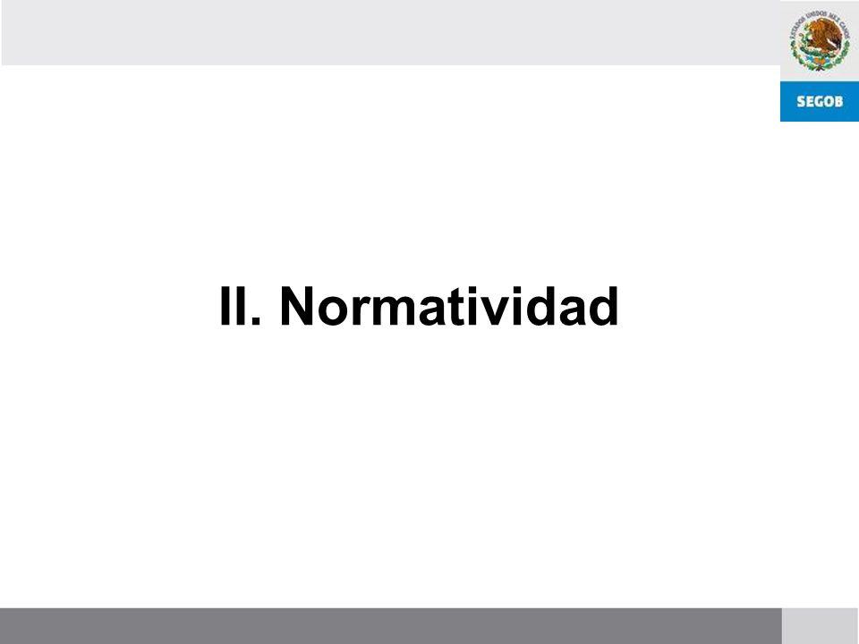 II. Normatividad