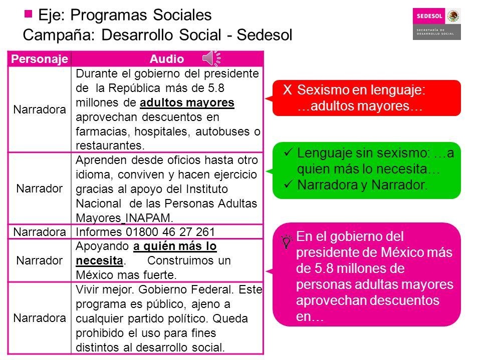 Eje: Programas Sociales
