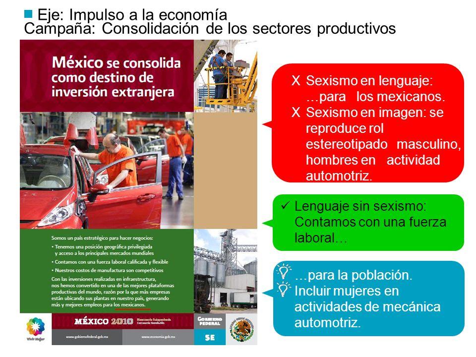 Eje: Impulso a la economía