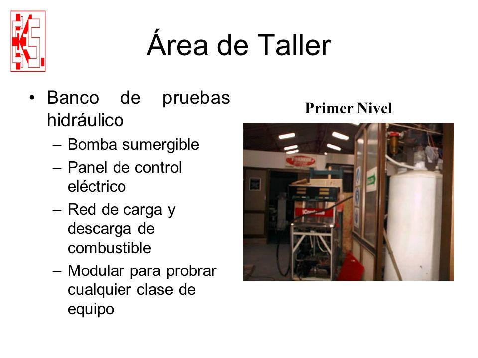 Área de Taller Banco de pruebas hidráulico Primer Nivel