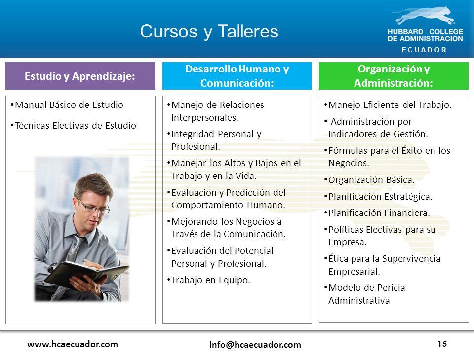 Cursos y Talleres Estudio y Aprendizaje: