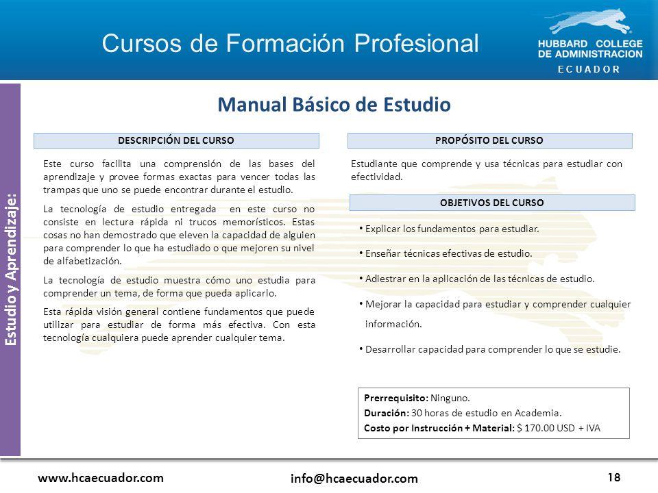 Manual Básico de Estudio Estudio y Aprendizaje: