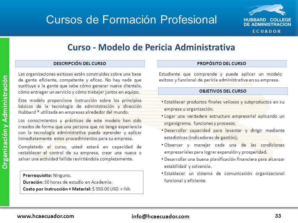 Curso - Modelo de Pericia Administrativa Organización y Administración