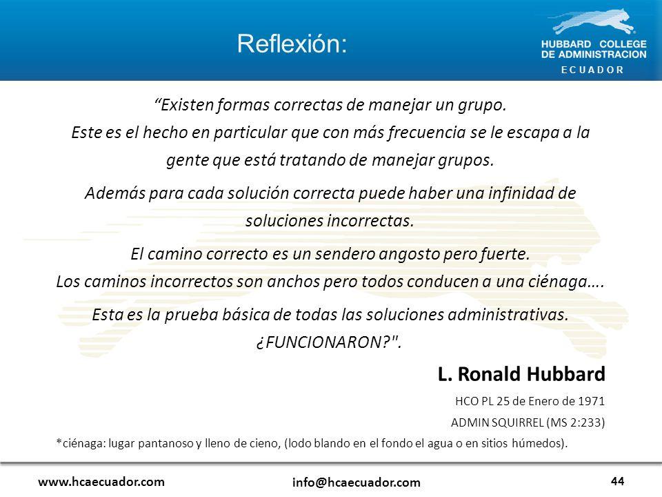 Reflexión: L. Ronald Hubbard