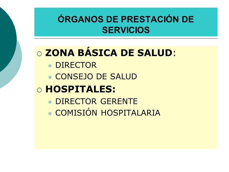 ÓRGANOS DE PRESTACIÓN DE SERVICIOS