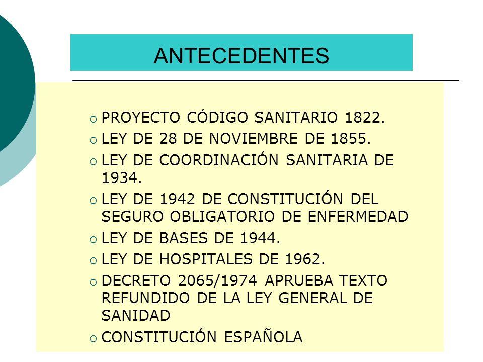 ANTECEDENTES PROYECTO CÓDIGO SANITARIO 1822.