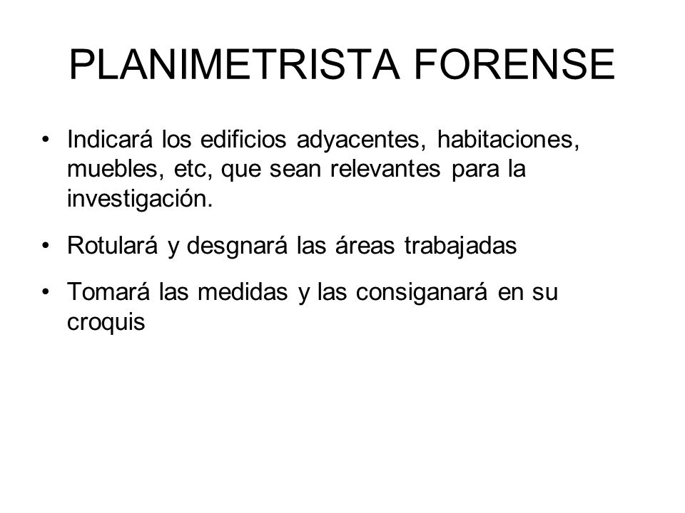 PLANIMETRISTA FORENSE