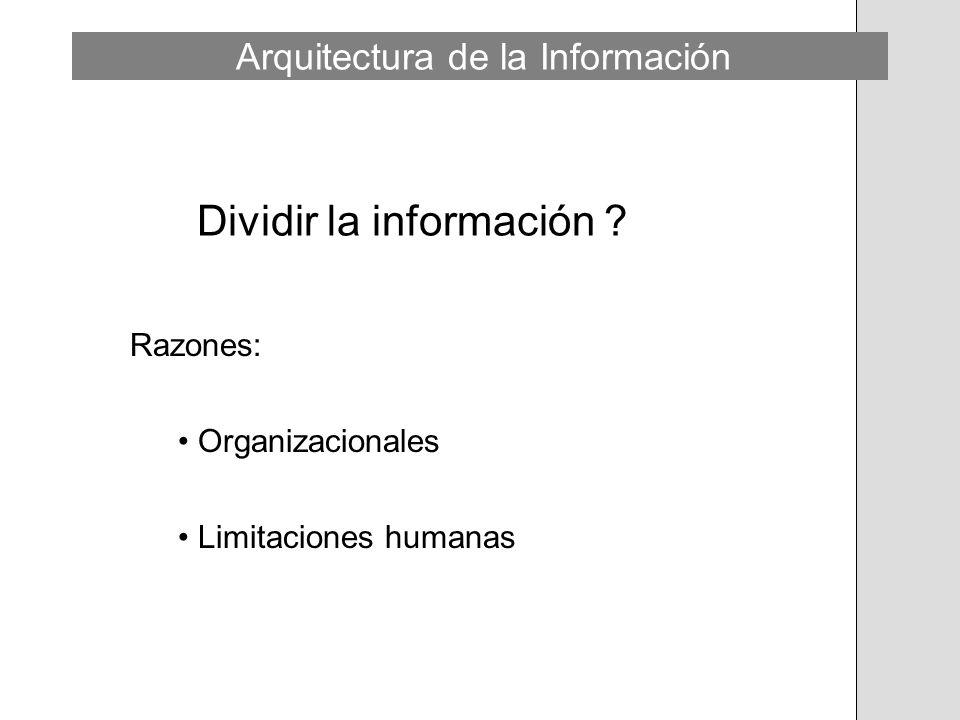 Dividir la información