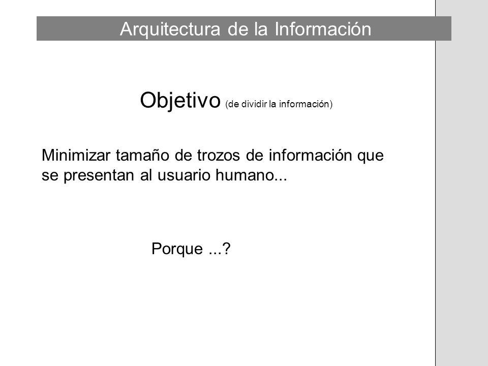 Objetivo (de dividir la información)
