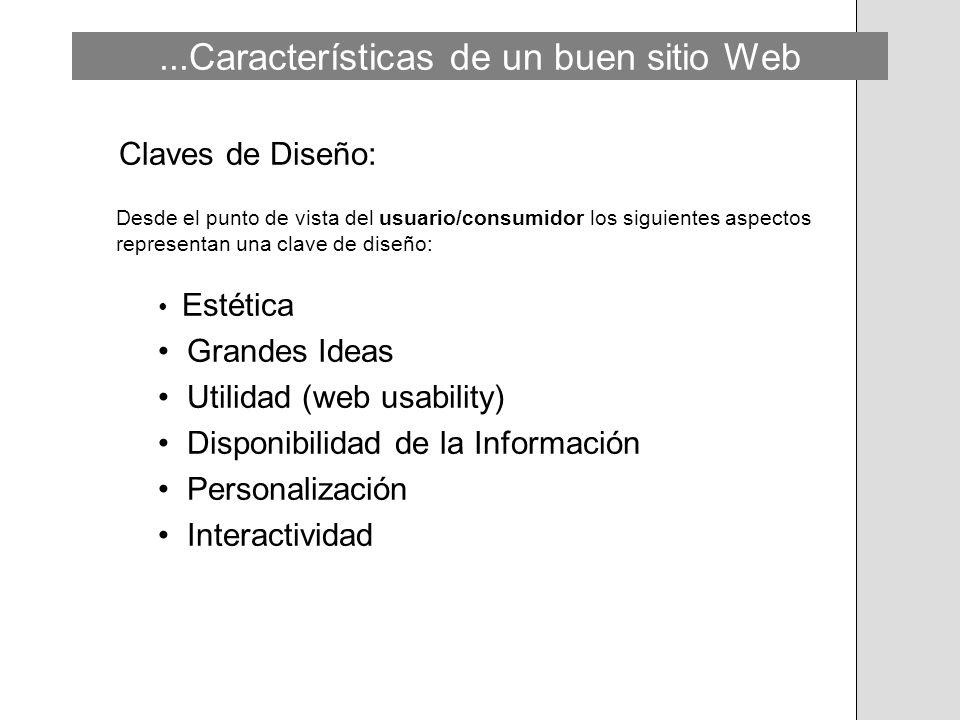 ...Características de un buen sitio Web