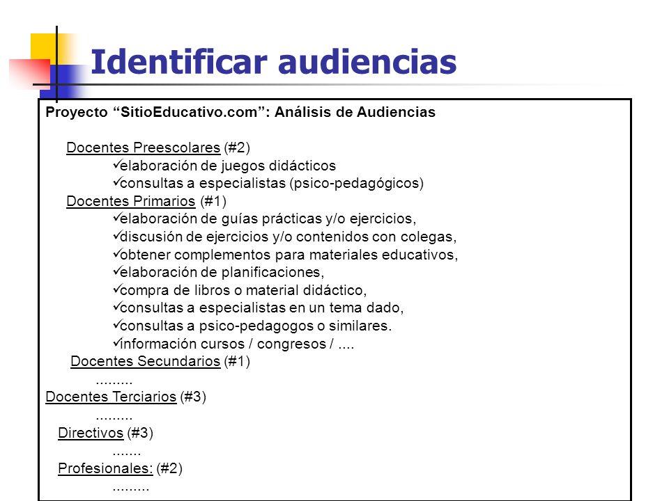 Identificar audiencias