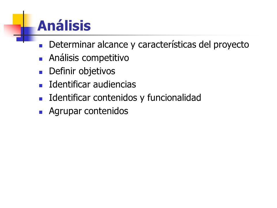 Análisis Determinar alcance y características del proyecto