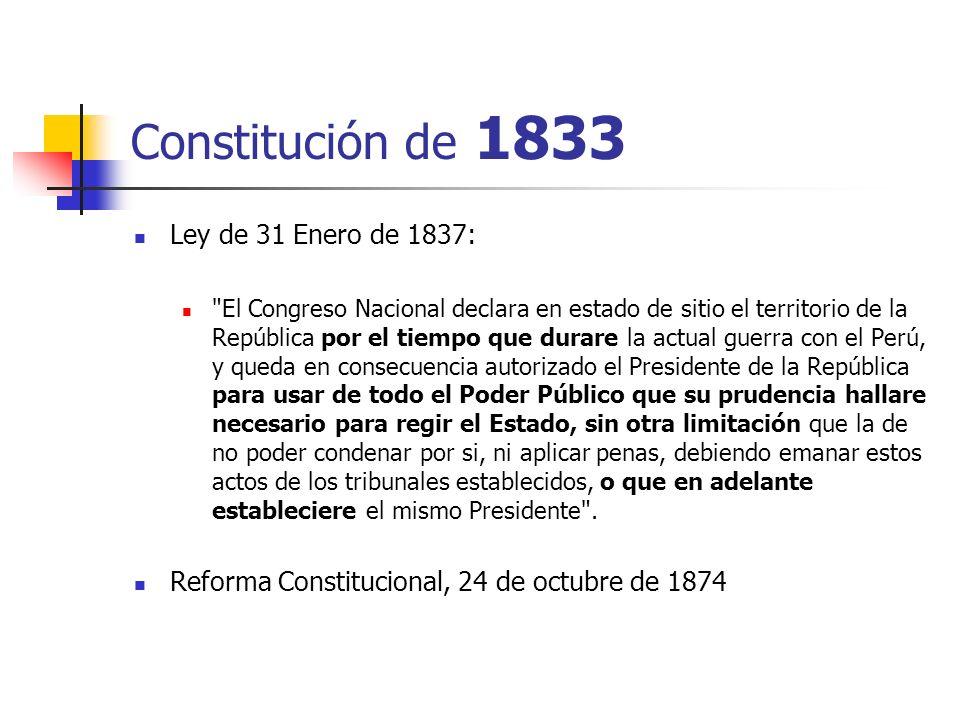 Constitución de 1833 Ley de 31 Enero de 1837: