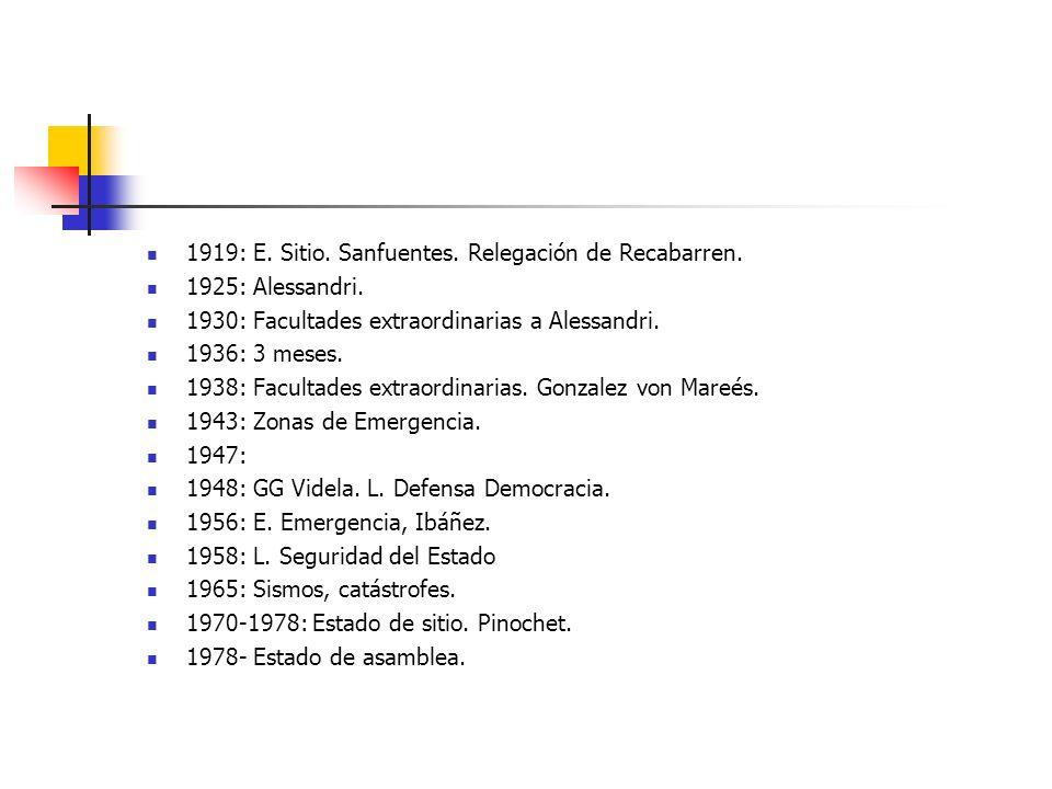 1919: E. Sitio. Sanfuentes. Relegación de Recabarren.