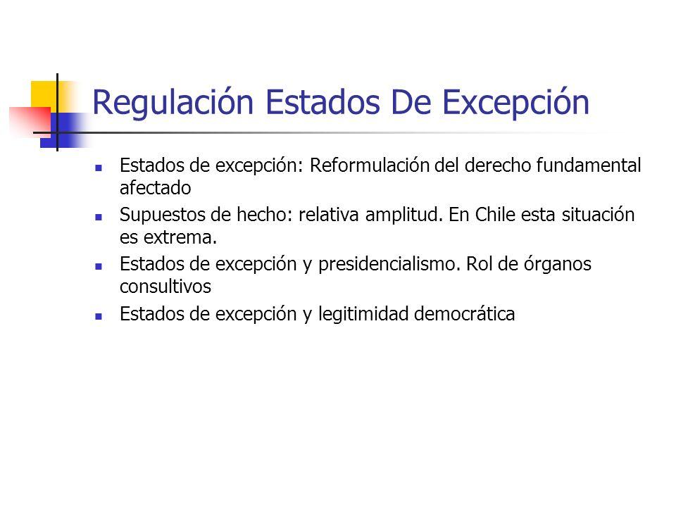 Regulación Estados De Excepción
