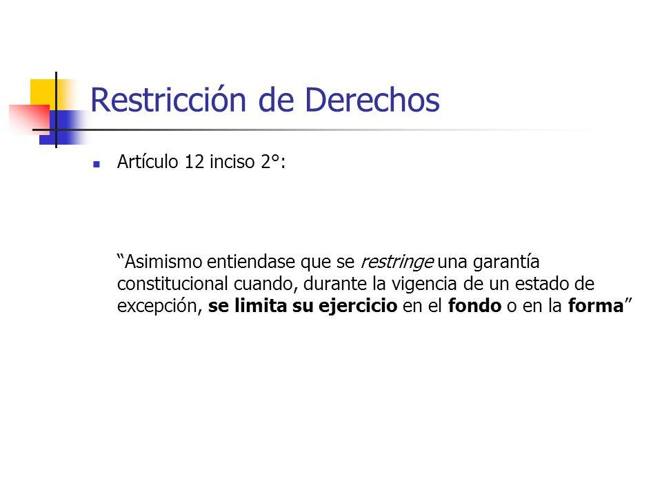 Restricción de Derechos
