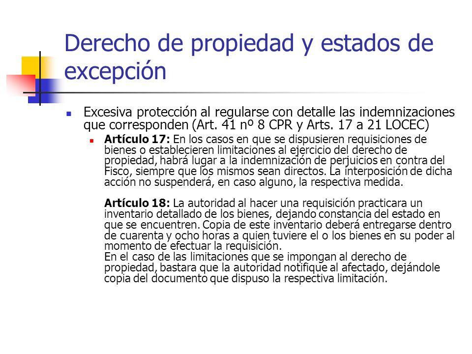 Derecho de propiedad y estados de excepción