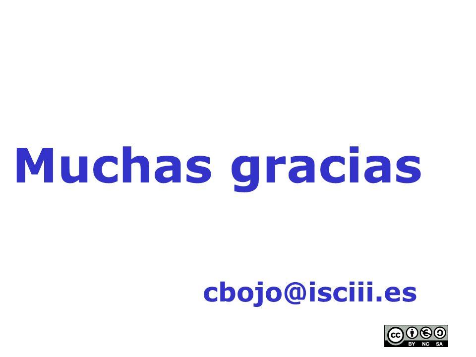 Muchas gracias cbojo@isciii.es
