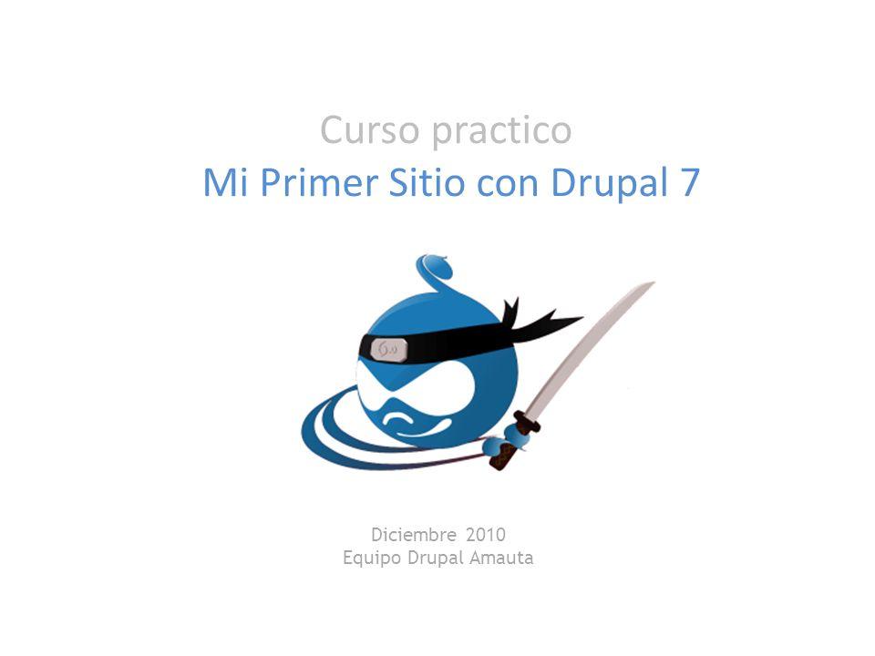 Mi Primer Sitio con Drupal 7