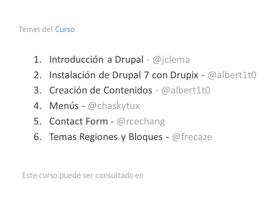 Introducción a Drupal - @jclema
