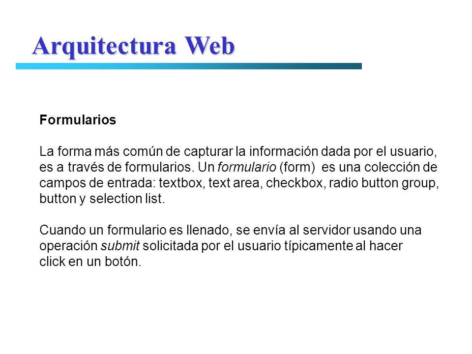 Arquitectura Web Formularios