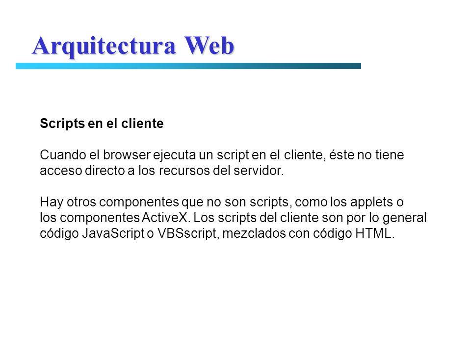 Arquitectura Web Scripts en el cliente
