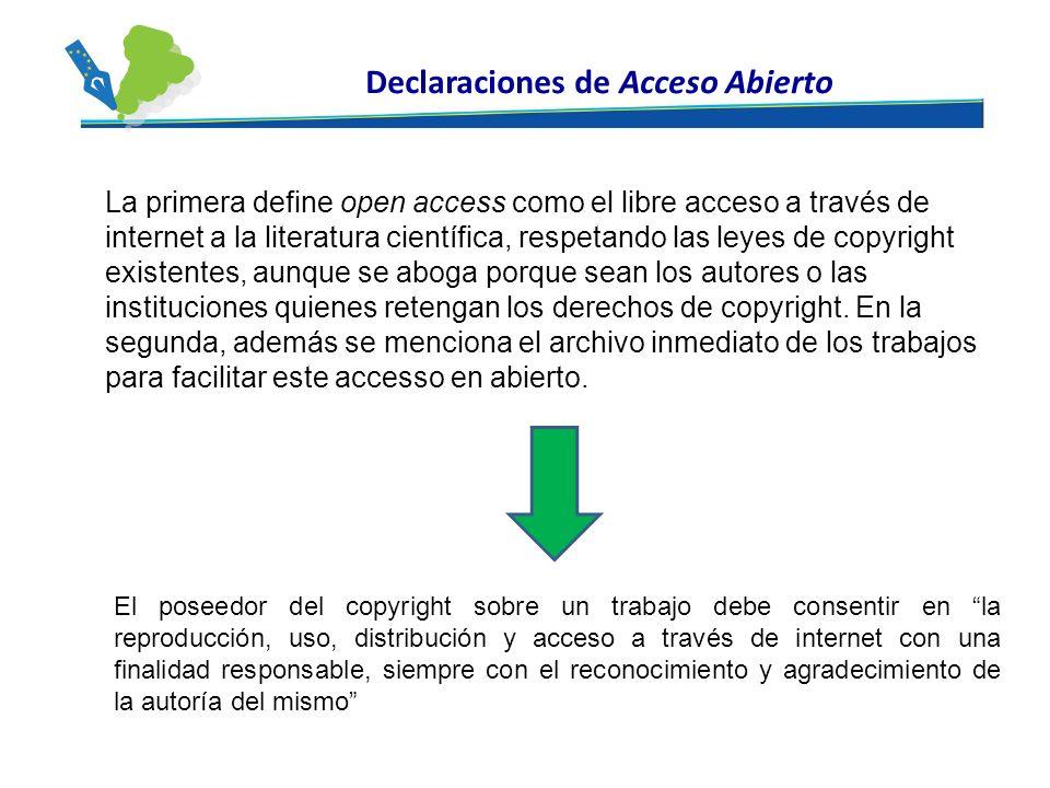 Declaraciones de Acceso Abierto