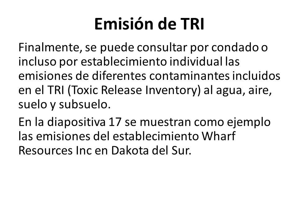 Emisión de TRI