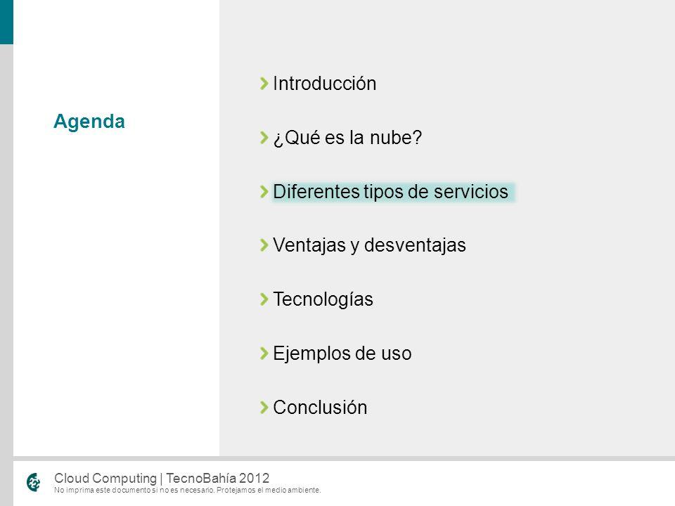 Introducción ¿Qué es la nube Diferentes tipos de servicios. Ventajas y desventajas. Tecnologías.