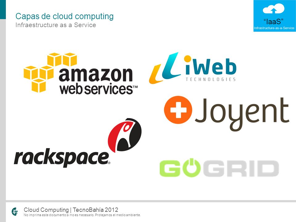 Capas de cloud computing