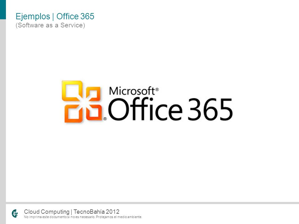Ejemplos | Office 365 (Software as a Service)