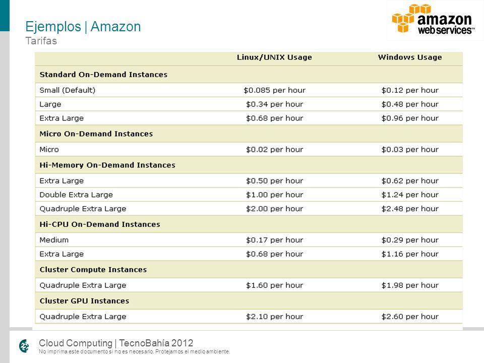 Ejemplos | Amazon Tarifas