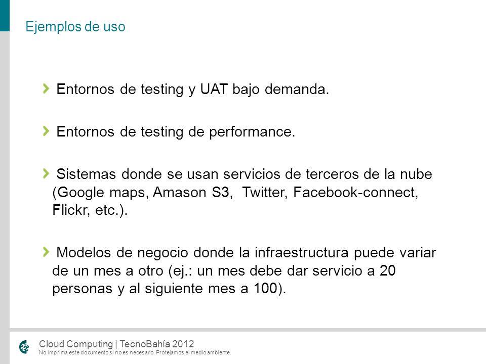 Entornos de testing y UAT bajo demanda.