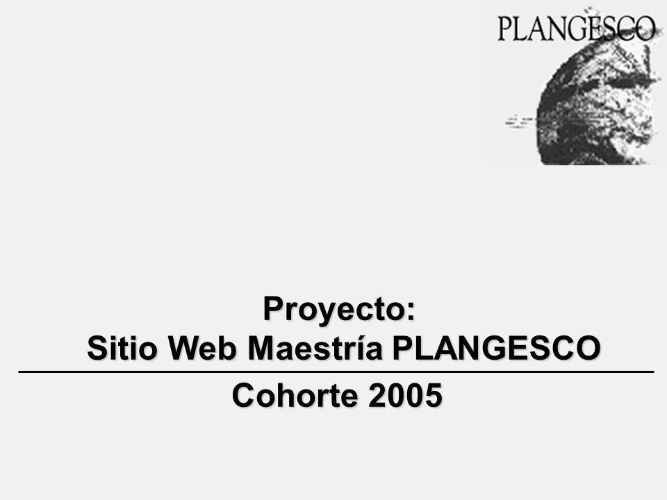 Proyecto: Sitio Web Maestría PLANGESCO