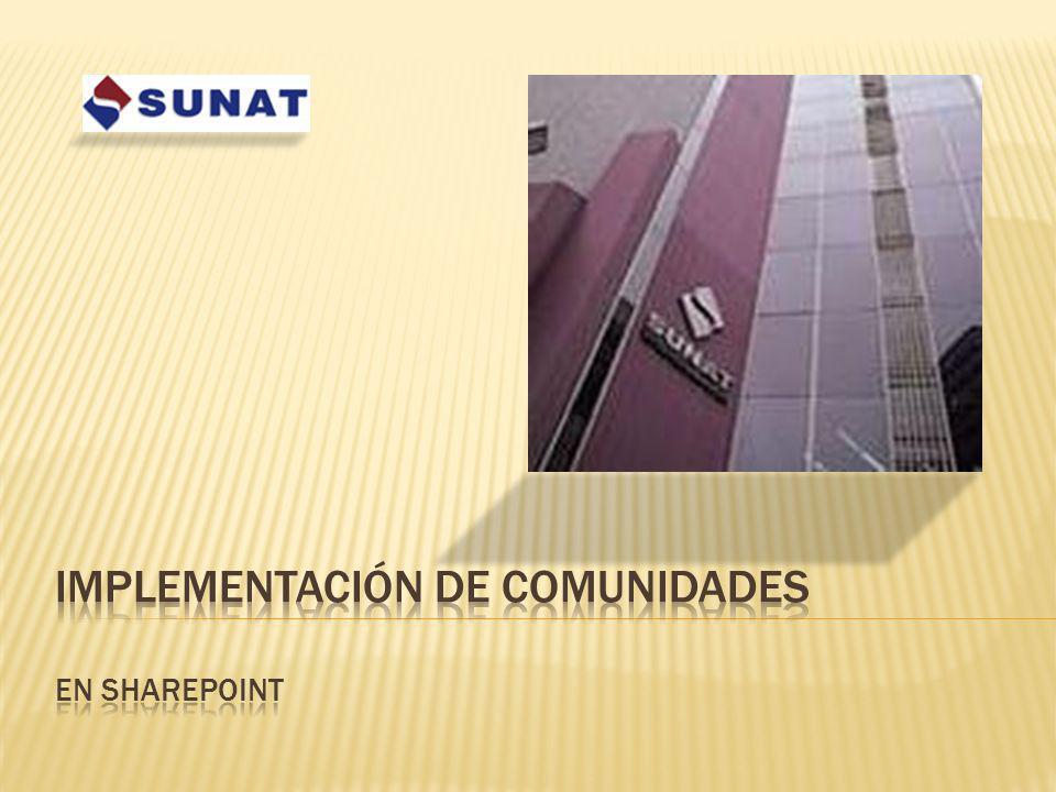 Implementación DE COMUNIDADES en Sharepoint