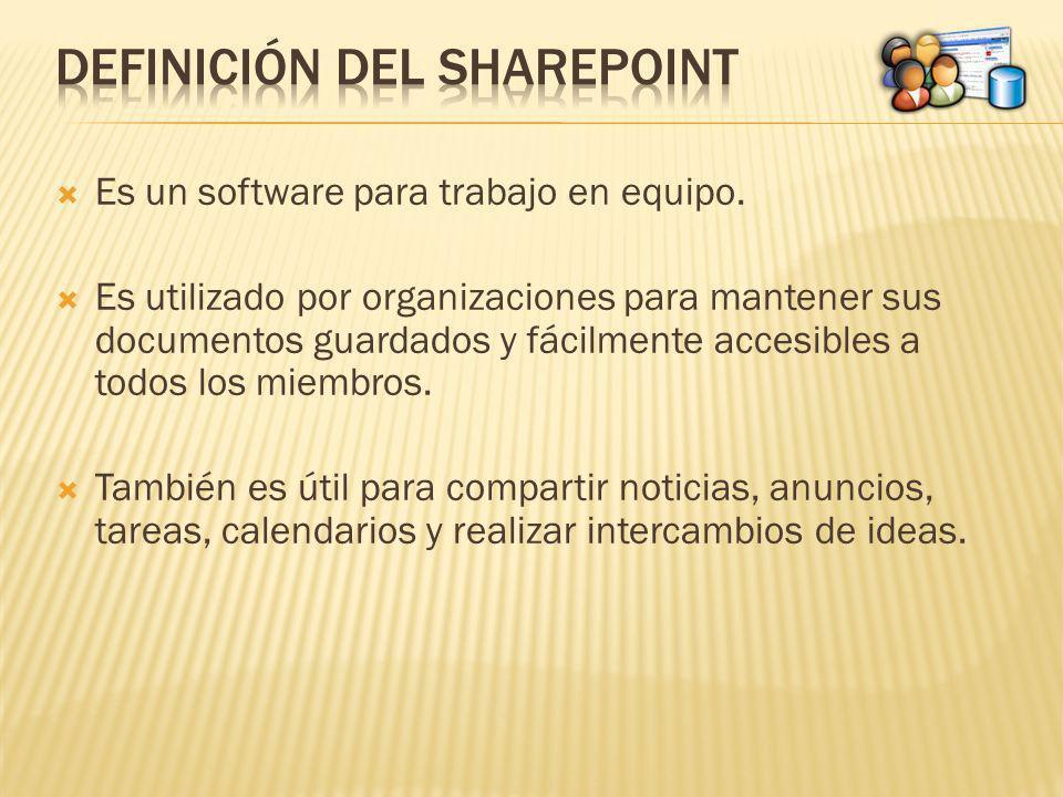 Definición del Sharepoint