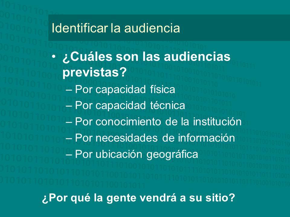 Identificar la audiencia