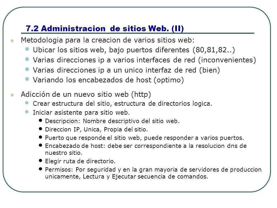 7.2 Administracion de sitios Web. (II)