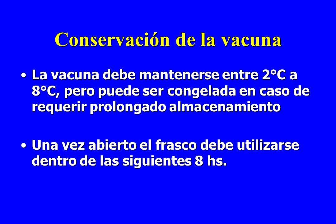 Conservación de la vacuna