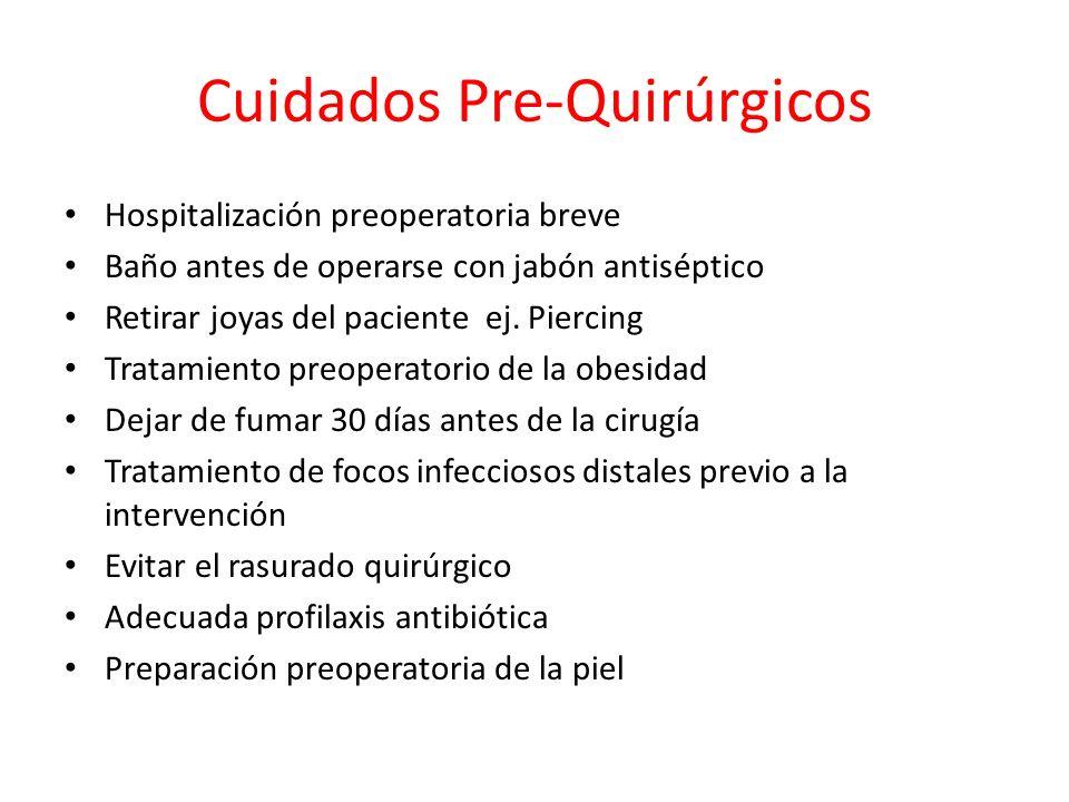 Cuidados Pre-Quirúrgicos