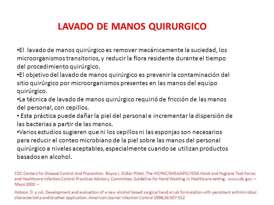 LAVADO DE MANOS QUIRURGICO