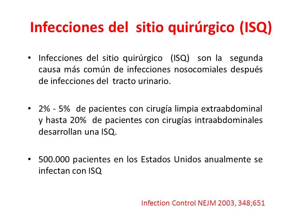 Infecciones del sitio quirúrgico (ISQ)