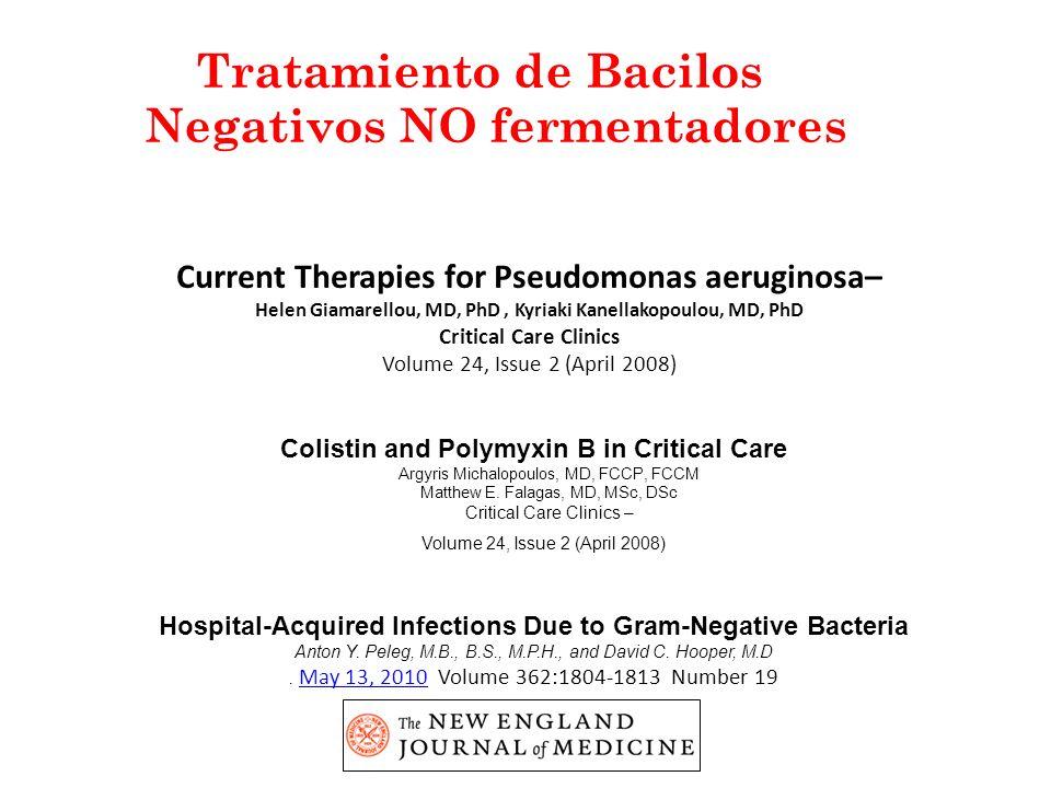 Tratamiento de Bacilos Negativos NO fermentadores
